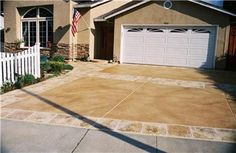 Stained Driveway, California Concrete Driveways Custom Concrete Resurfacing, Inc. San Jose, CA Concrete Patios, Stained Concrete Driveway, Concrete Projects, Outdoor Projects, Concrete Resurfacing, Concrete Coatings, Driveway Resurfacing, Concrete Overlay, Stamped Concrete
