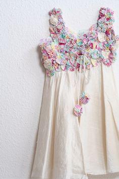 yo yo quilt dress