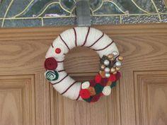 Peppermint Sundae Holiday Wreath Christmas by rusticowldecor, $36.00