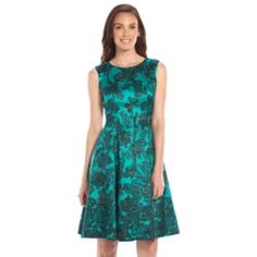 Jessica Howard Floral Pieced Fit