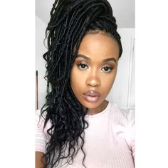 Goddess locs, faux locs, protective styles