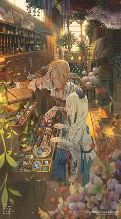 Anime magical laboratory – - tecnology World Art Inspo, Inspiration Art, Fantasy World, Fantasy Art, Art Manga, Manga Anime, Witch Art, Art Et Illustration, Anime Scenery