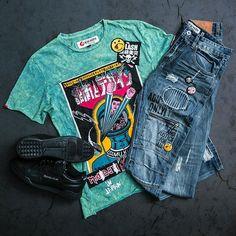 Cop a new fit at Jimmy Jazz! Tee: Ito-Ochi Jeans: Ito-Ochi Sneakers: Reebok Workoutplus Vintage #reebok #itoochi #newarrivals