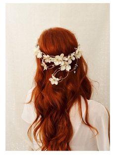 Soft Waves flower crown  -Boho Chic Bridal Hair
