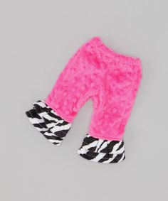 Take a look at this Pink & Zebra Ruffle Doll Flare Pants by FAT RAT on #zulily today!