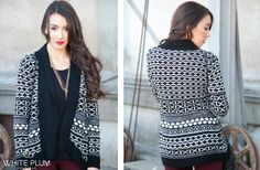 Winter Diamond Open Sweater Cardigan - 2 Colors! 43% off at Groopdealz