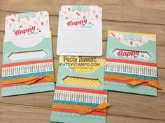 Pretty Pocket Card Kit birthday card idea featuring Stampin' UP! Sale-a-Bration 2017 and Occasions catalog products by Patty Bennett