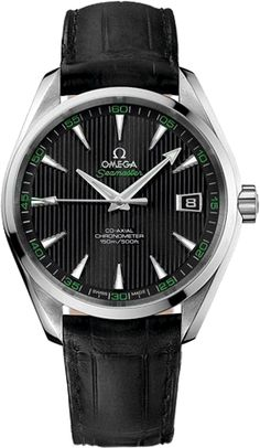 231.13.42.21.01.001 NEW SPECIAL OMEGA GOLF EDITION AQUA TERRA MENS LUXURY WATCH Usually ships within 3 months - Click to view AVAILABLE Luxury Watch Sales - FREE Overnight Shipping - No Sales Tax (Outside California)- With Manufacturer Serial Numbers- Black Guilloche Dial- Date Feature- Self Winding Automatic Co-Axial Escapement Movement - Omega Caliber 8500- 5 Year Warranty- Guaranteed Authentic - Certificate of Authenticity- Brushed with Polished Steel Case- Black Leather Strap wit...