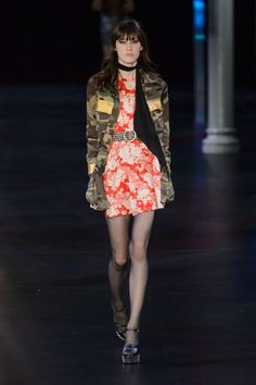 Saint Laurent spring 2015 collection show. Photo: Imaxtree