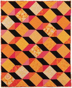 Zig Zag Pattern by Swirly Girls Design, styled with Alice Kennedy's Orange Crush collection