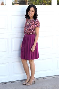Putting Me Together: Pink and Purple (Style Challenge #5) Love the skirt