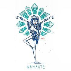 Imagen de namaste, yoga, and drawing