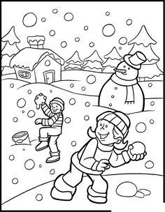 winter color sheet