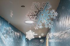 Use snowflakes often and at varying heights to create scenes of falling snow at your VBS. Learn more about Everest VBS by visiting http://www.group.com/everest. #EverestVBSDecorating #EverestVBS2015