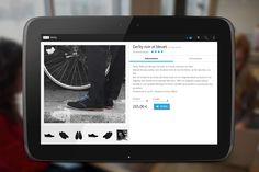 Application Android M-Commerce, design mobile (exemple chaussures Jacques & Déméter)