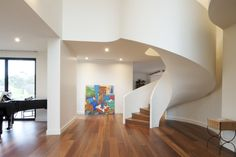 Feature | Spotted Gum | Ribbon | Architecture | Art | Design | Stunning |  Plaster