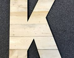 """Large Raw Wood Rustic Letter 12""""-20"""" Tall Any Letter, Farmhouse, Cabin Industrial Decor, Barn Style"""