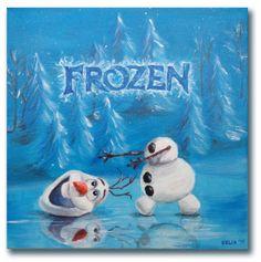 Frozen, schilderij van 40x40