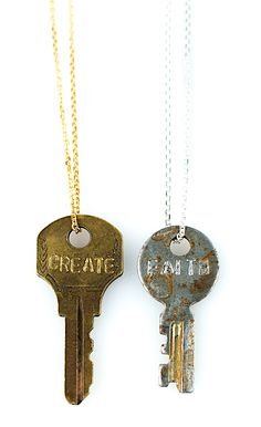 The Giving Keys - Each key features an inspirational message. The Giving Keys employs people who are transitioning out of homelessness.
