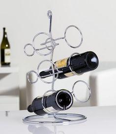 """Porte bouteilles 6 """"Bianco"""" Finition métal chromé http://deco-maison-fr.com/article/197/porte-bouteilles-6-bianco-finition-metal-chrome#"""