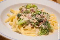 Wos zum Essn: Kohlsträußchen-Liebe: Spätzle mit Broccoli-Carbonara