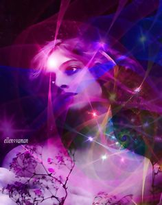 ☩ ... Love will surely Burst you wide Open  Into an unfettered, booming New Galaxy...  ☩  Rumi  arT © e11en vaman ( Inspired by an image of an Edwardian vintage woman ) www.facebook.com/ellenvaman  1157