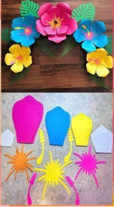 Paper Flower Patterns, Tissue Paper Flowers, Paper Flower Tutorial, Flower Paper, Paper Flower Templates, Giant Paper Flowers, Diy Flowers, Flower Petal Template, Leaf Template