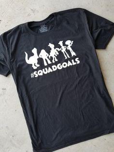 Squadgoals, Toy Story Squadgoals, Toy Story Shirt Ideas, Disney, Disney Shirts, Disney svg, Disney silhouette, silhouette, htv, t-shirt vinyl, cameo, cricut, crafting, vacation shirts