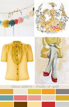 colour palette : shades of gold - curated by Emma Lamb
