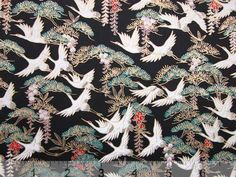 Washi paper with white birds