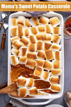 Sweet Potato Casserole Recipe With Marshmallows, Best Sweet Potato Casserole, Recipes With Marshmallows, Sweet Potato Recipes, Sweet Potatoe With Marshmellows, Loaded Sweet Potato, Bean Casserole, Best Thanksgiving Side Dishes, Thanksgiving Casserole