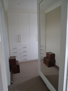 White Built In Cupboards, Divider, Building, Room, Closet, Furniture, Home Decor, Bedroom, Armoire