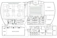 Ontario I Community Center Floor Plan Water Architecture, Concept Architecture, Youth Center, Urban Design Concept, Autism Education, South Holland, Sport Hall, Underground Homes, Arquitetura