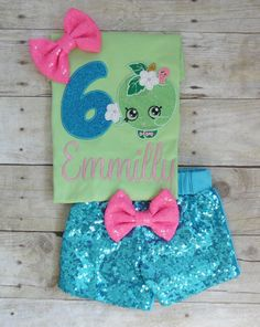 Shopkins birthday outfit Shopkins Apple Blossom by MommaMays
