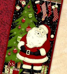 santa quilt panel - - Yahoo Image Search Results