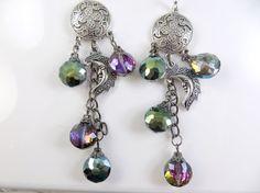 Long gypsy moon earrings by jewelryandmorebykat on Etsy