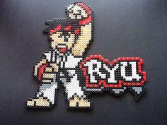 Street Fighter Ryu Perler Bead Sprite by nintendo-universe