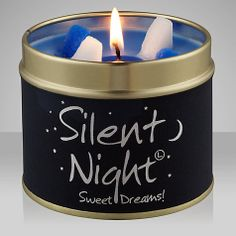 Lily-Flame Candle in a Tin, Silent Night