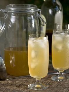 Hop skip and go naked punch!  Six 12-oz. cans of beer   1 pint of Canadian whiskey   One 12-oz. can of frozen lemonade concentrate   2 liters of lemon-lime soda  Preparation:     In a gallon container add beer, whiskey and frozen lemonade (and optional lemon-lime soda).     Stir and serve over ice.