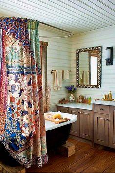 35 Beautiful Bohemian Bathroom Decor Ideas - Popy Home - 35 Beautiful Bohemian Bathroom Decor Ideas 35 Beautiful Bohemian Bathroom Decor Ideas - Diy Bathroom Remodel, Bathroom Interior, Bathroom Renovations, Bohemian Bathroom, Design Moderne, Small Bathroom, Bathroom Ideas, Modern Bathroom, Bathroom Vintage