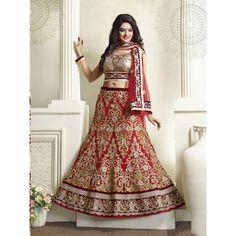 Viva N Diva Red Color Net #Lehenga #onlineshopping http://goo.gl/rWm5Am