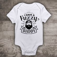 I have a fuzzy daddy beard shirt new baby Daddy and me by StoykoTs