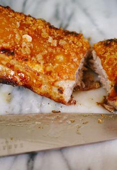 Crackling Pork Belly 'n' Apple Sauce - The Londoner