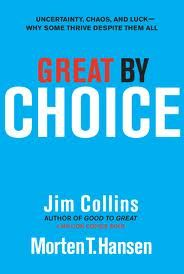 Great by Choice by Jim Collins & Marten T. Hansen  Luck is always part of people's success, be it good luck or bad luck! Luck is not they key ingredient to success though, as we have often been brought to believe.