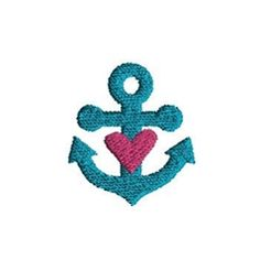 Mini Heart Anchor - 3 Sizes! | What's New | Machine Embroidery Designs | SWAKembroidery.com Sew Cha Cha