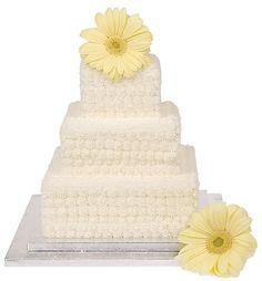 Three-tier buttercream wedding cake by Genuine Cakes