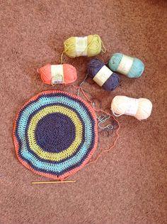 Ravelry: abbeybufo's Crochet bag; lime, pink, turquoise, indigo