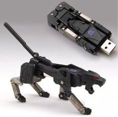 Ravage transformer USB drive. Now this is something that I would never lose; I'd be playing with it all the time! Definitely something that would make all the classmates jealous to some degree.