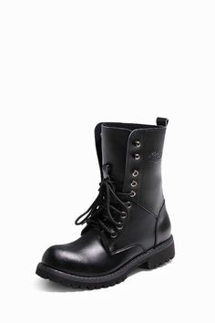 Natural Leather Boots In Black