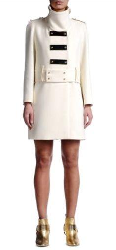 Coat Women - Coats & jackets Women on Just Cavalli Online Store Coats For Women, Jackets For Women, Girl Fashion, Womens Fashion, Fashion Trends, Military Fashion, Military Style, Check Coat, Fall Winter 2015